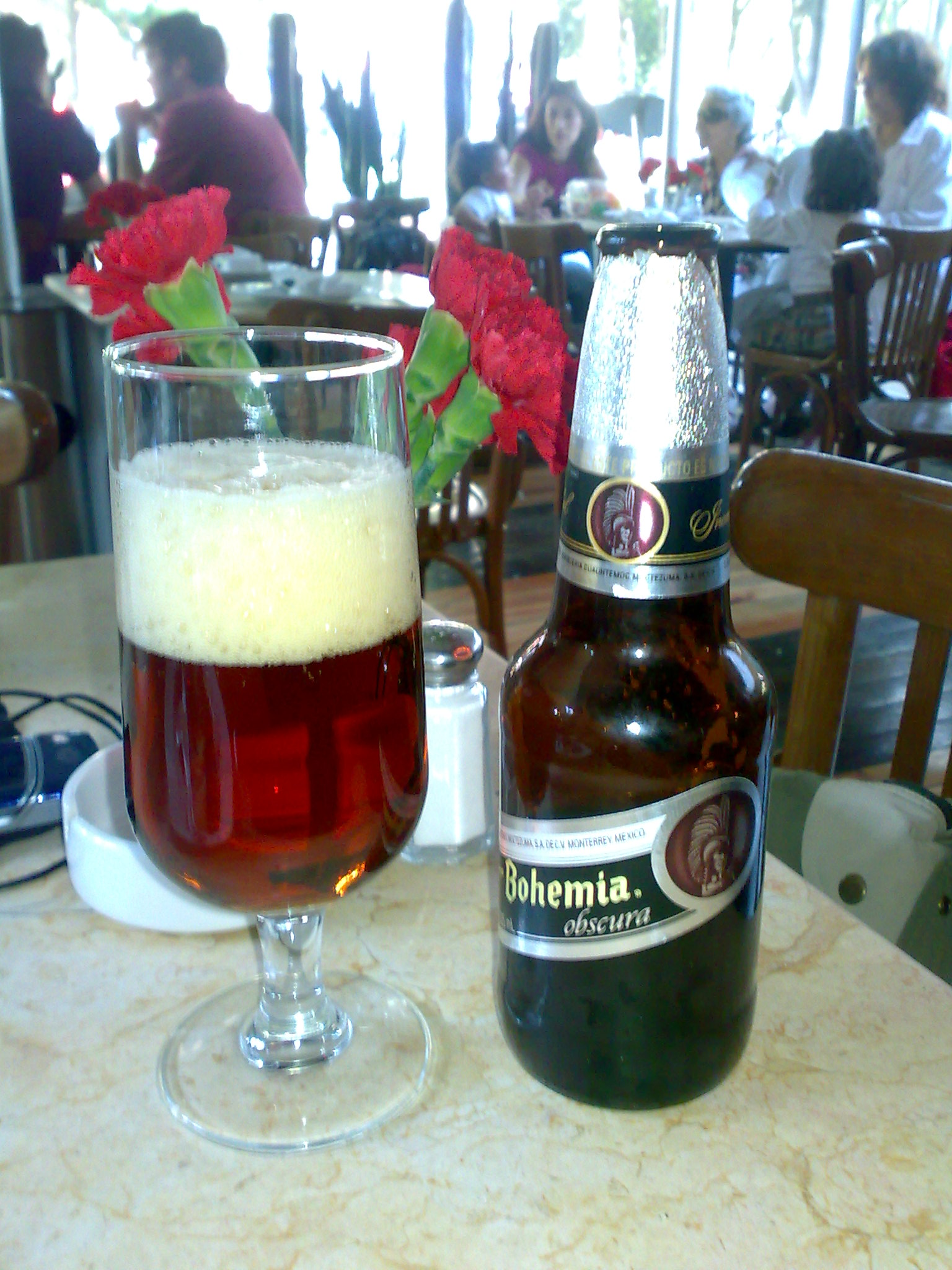 A cerveza in a lounge in Cancun, Mexico