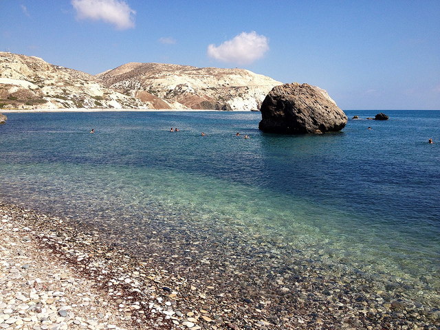 Aphrodite's Rock is just one of the romantic sights you can take in on a budget Valentine's getaway to Cyprus!