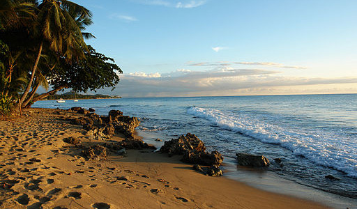 sunset on the beach in puerto rico