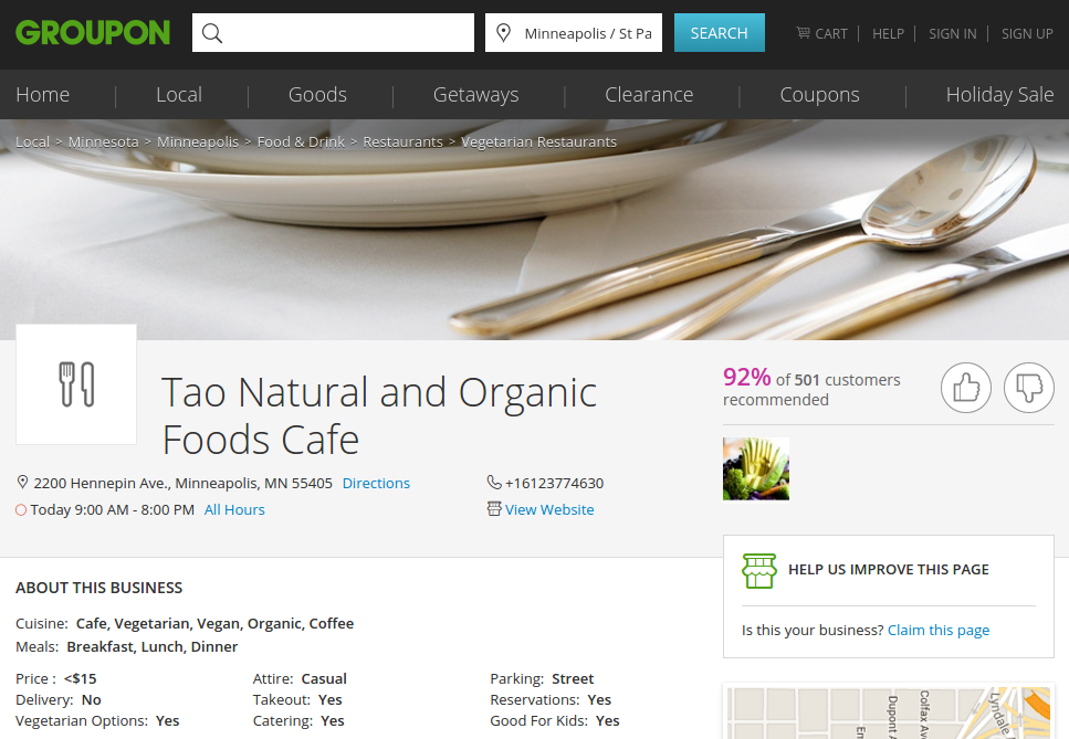 Tao NaturaL AND organic foods cafe