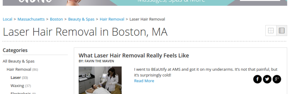 laser hair removal boston